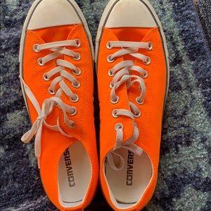 Bright orange converse